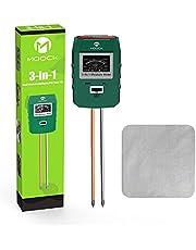 Soil Moisture Meter, MOOCK 3-in-1 Soil Test Kit Soil Moisture/pH/Light Tester, Plant Water Meter, Soil Moisture Sensor, Gardening Tool Kit for Plants, for Gardens, Lawn, Farms, Indoor & Outdoor Use