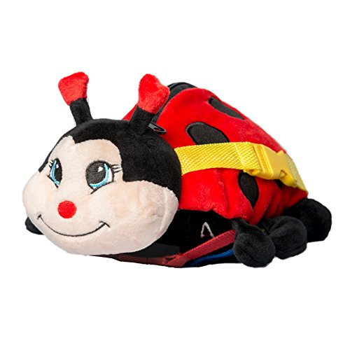 "BUCKLE TOY ""Becky"" Ladybug – Toddler Early Learning Basic Life Skills Children's Plush Travel Activity"