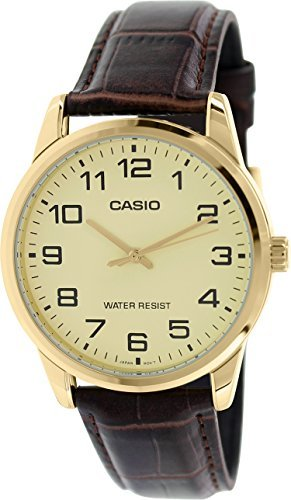 - Casio Men's Mtp-v001gl-9b Quartz Watch with Genuine Leather