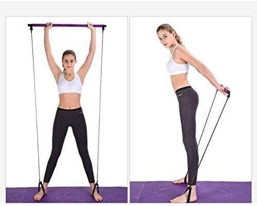DXP-shop Pilates Bar l/éger Bande de r/ésistance et de tonification Bar Home Gym Fitness Core Trainer Force de r/ésistance Gym Bar Band Kit Id/éal for Total Body Workout at Home Gym