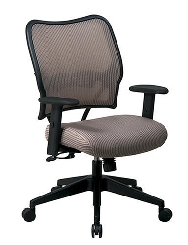 SPACE Seating Deluxe VeraFlex Fabric Seat and Back, 2-to-1 Synchro Tilt Control and 2-Way Adjustable Arms Managers Chair, Latte