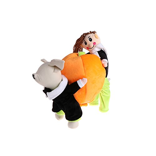 Cloth for Dog- Rockruck Pet Pumpkin Outfit Dog Cat Costume Suit Puppy Clothes For Halloween (M)