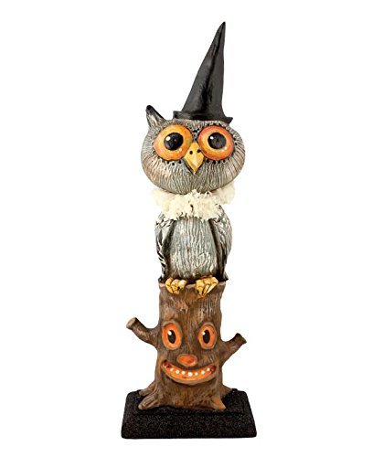 Bethany Lowe Hootie Owl is Stumped Figurine Debra Schoch Halloween Decor