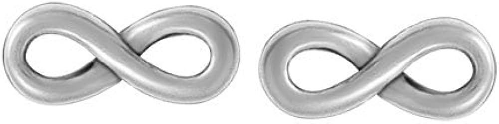 Boma Jewelry Sterling Silver Infinity Stud Earrings