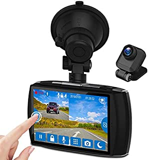 """Z-Edge Dash Cam Front and Rear 4.0"""" Touch Screen Dual Dash Cam FHD 1080P with Night Mode, 32GB Card Included,155 Degree Wide Angle, WDR, G-Sensor, Loop Recording, Support 256GB Max"""
