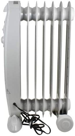 Comfort Zone CZ7007J Oil-Filled Electric Radiator Heater with 3 Heat Settings and Silent Operation