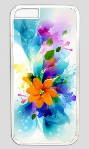 Abstract colorful flower art Thanksgiving Halloween Masterpiece Limited Design PC Transparent Case for iphone 6 by Cases & Mouse Pads 220mm*180mm*3mm