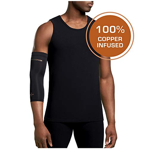 Tommie Copper - Unisex Compression Elbow Sleeve - Black - Small