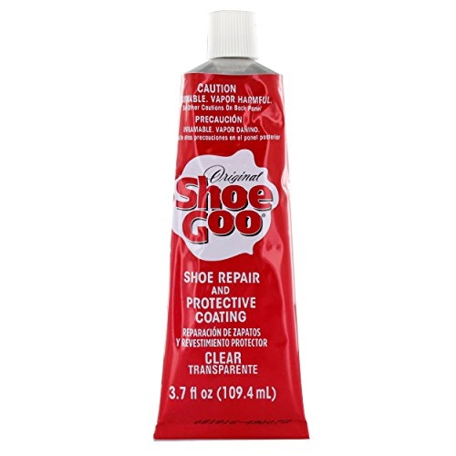 - Shoe Goo Repair Adhesive for Fixing Worn Shoes or Boots, Clear, 3.7-Ounce Tube