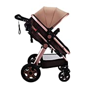 Mophorn Luxury Stroller Foldable Pushchair Pram High View Carriage Infant Stroller (Stroller)