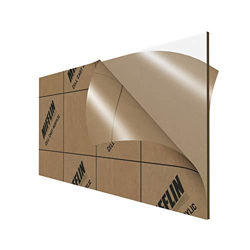MIFFLIN Cast Plexiglass Sheet (Transparent Clear, 1 Piece, 6x12 Inch, 0.118