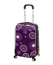 Rockland Vision Hardside Spinner Wheel Luggage, Purple Pearl