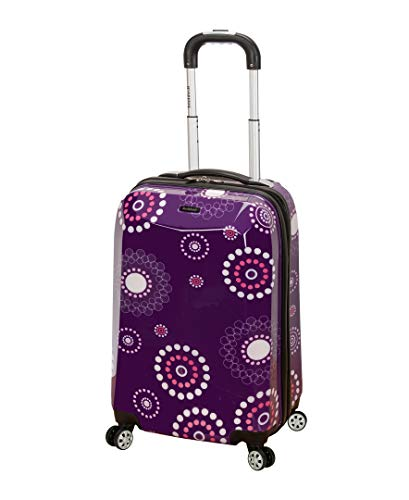Rockland Luggage 20 Inch Polycarbonate Carry On Luggage, Purple Pearl, One Size