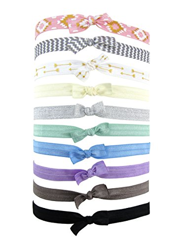 Styla Hair Baby Girls Toddlers Elastic Headbands - 10 Pack Hair Bands (Cute Ways To Dress Up)