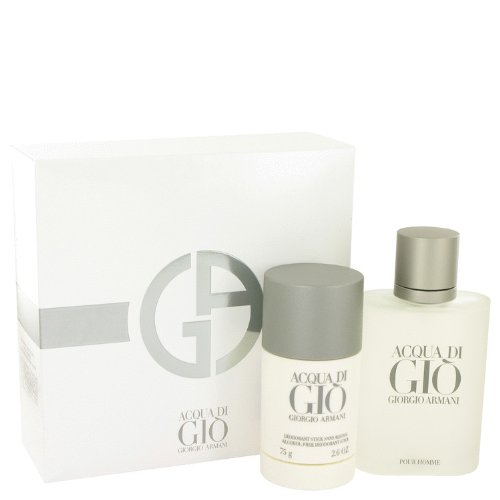 t - 3.4 oz Eau De Toilette Spray + 2.6 oz Deodorant Stick Mens Cologne (Acqua Di Gio Deodorant Spray)