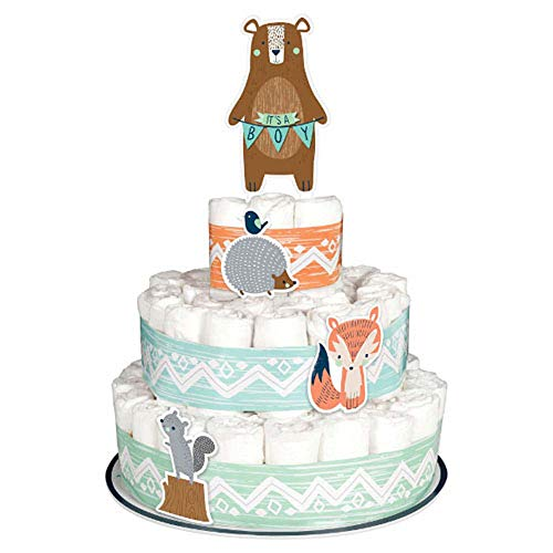 (Baby Shower 'We Can Bear-ly Wait' Diaper Cake Kit (8pc))