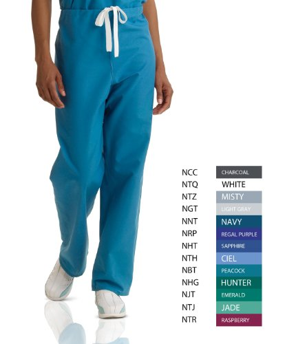 Medline AngelStat Reversible Scrub Pant, ANG-CC, MDL-CC, Large, Navy