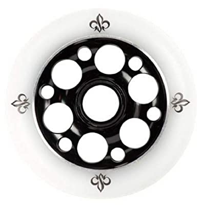 Yak 100mm x 88a Exotic Metalcore Scooter Wheels with Precision ABEC7 Bearings, 2 Wheels (Black on White) : Sports & Outdoors