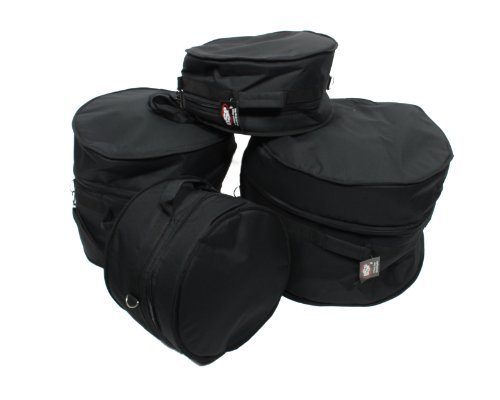 (XSPRO 4 Piece Deluxe Padded Jazz Drum Gig Bag Set for Gretsch)