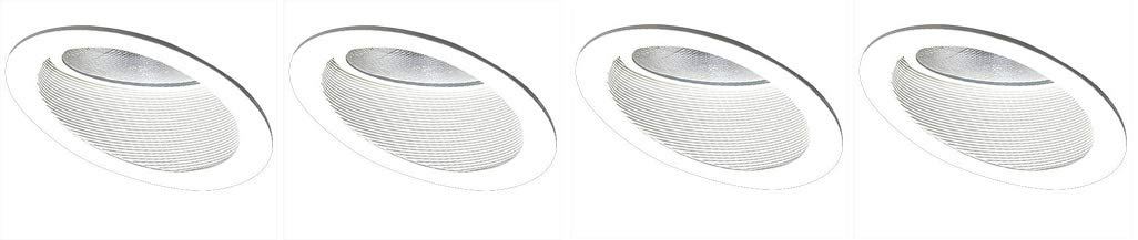 Elco Lighting EL624W 6'' Sloped Phenolic Baffle with Gimbal Ring - EL624 (4-(Pack))