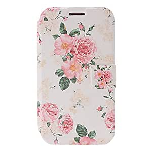 Buy Small Fresh Flowers Pattern Leather Case with Holder & Credit Card Slots for Samsung Galaxy Note2 N7100