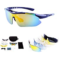 Polarized Sport Sunglasses With 5 Interchangeable Lenses