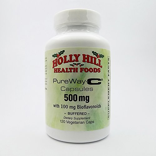 Holly Hill Health Foods, PureWay-C 500 MG with 100 MG Bioflavonoids, Buffered, 120 Vegetarian Capsules