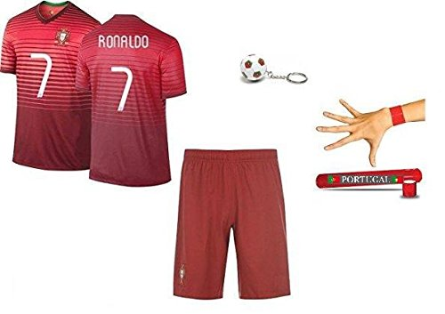 Portugal Replica Jersey (Portugal Ronaldo #7 Home Kids Soccer Jersey Youth All Sizes)