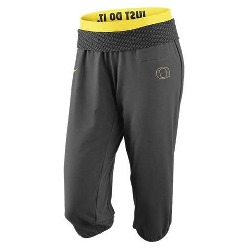 NIKE Oregon Ducks Womens Obsessed Capri Pant - Junior Women - M (8-10) ()