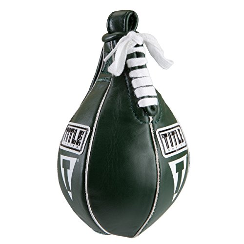 """TITLE Boxing Super Speed Bag, Green, 4"""" x 7"""""""
