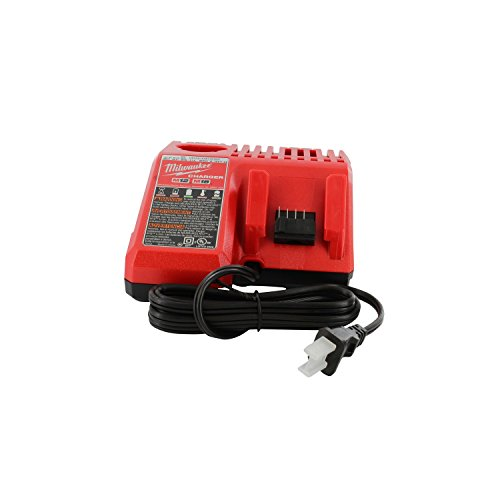 Milwaukee 48-59-1812 M12 or M18 18V and 12V Multi Voltage Lithium Ion Battery Charger w/ Onboard Fuel Gauge ()