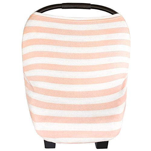 "Baby Car Seat Cover Canopy and Nursing Cover Multi-Use Stretchy 5 in 1 Gift ""The Holland"" by Copper Pearl"