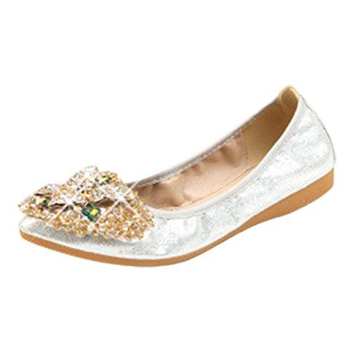 Chaussure Femme avec Chic Strass Frestepvie Mocassins Ballerines Plate El Confortable AqZUIO
