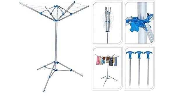 f.a.s – Trípode Tendedero Tendedero de ropa secadora Tendedero móvil camping jardín (compacto plegable): Amazon.es: Hogar