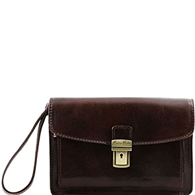 aab7324650 good Tuscany Leather Max Leather handy wrist bag Leather bags for ...