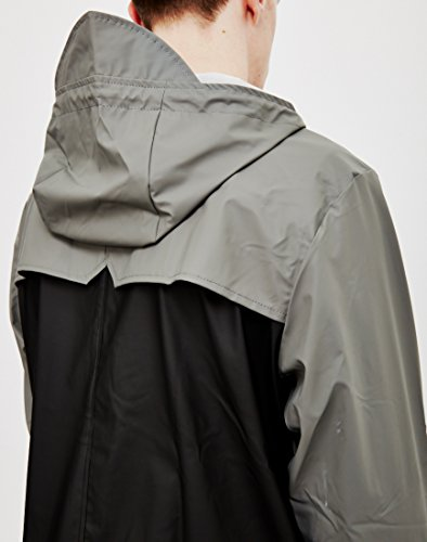 Manteau Dazz RAINS Breaker Grey Black Homme 1f50q