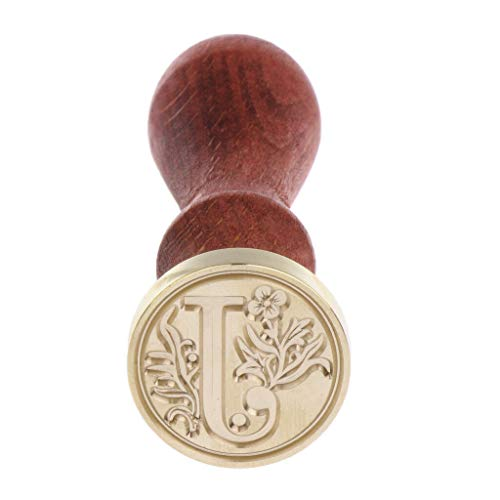 BROSCO Classic Initial Wax Seal Stamp Alphabet 26 Letter A-Z Vintage DIY Stamps | Color - J -