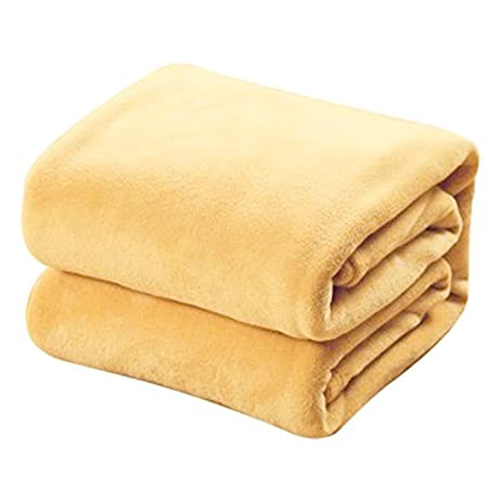Gentle Large Faux Fur Yellow Throw Blanket Mink Mustard 2 Seater Sofa/bed Double Bed Uk Afghans & Throw Blankets Home & Garden