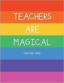 amazon teacher planner notebook teachers are magical daily
