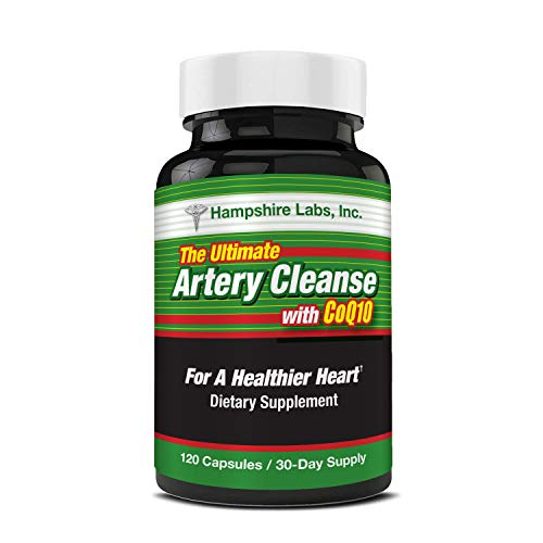 Ultimate Artery Cleanse Supplement for Heart Health Support, addresses Poor Circulation and clogged Arteries Caused by Plaque buildup. Supports Clean and Supple Arteries. 30 Day Supply.
