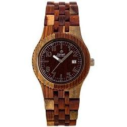 Tense Yukon Inlaidwood Wooden Analog Quartz Men's Watch J5200I
