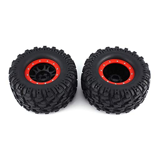 (anyilon 2PCS 3013R Wheel Rim Tire for Redcat Hsp Kyosho Hobao Hongnor Team Losi GM HPI 1/8 Truggy Monster Truck 17mm Hex)