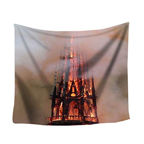 OrchidAmor Colorful Print Tapestry Art Room Notre Dame