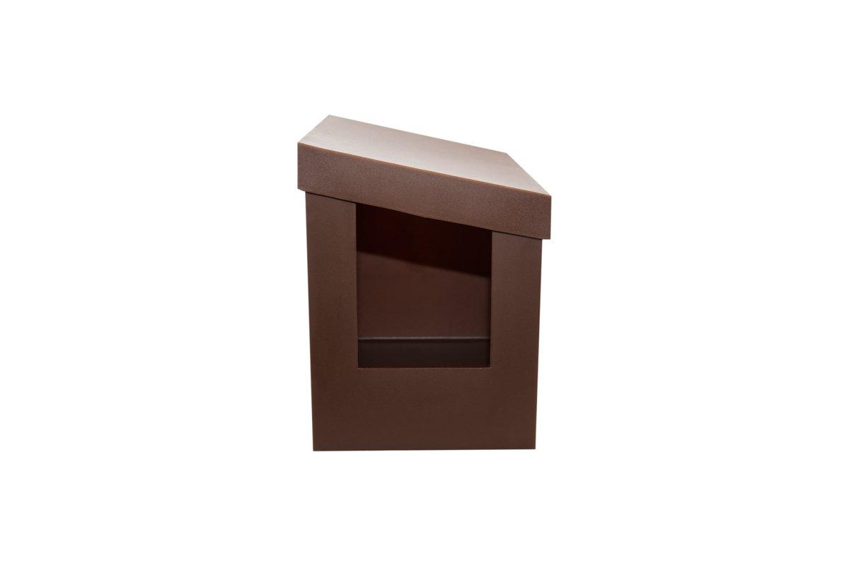 Kitangle Slope Style Modern Cat Litter Box, Brown
