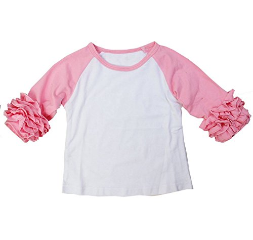 Kirei Sui Girls Long Sleeve Icing T-Shirts 4T Light Pink