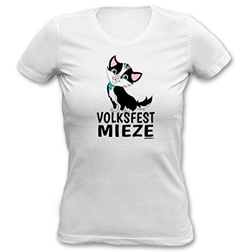 Girlie Shirt Volksfest Mieze Damen Oktoberfest Shirt Geburtstag Geschenk T-Shirt  Katze geil bedruckt Goodman Design®: Amazon.de: Bekleidung