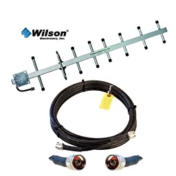 Wilson 14 dB 800 MHz Yagi Cellular Antenna 301111 and Wilson400 20 Feet Ultra Low Loss Coax Cable 952320