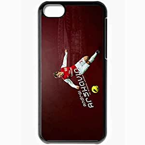 Personalized iPhone 5C Cell phone Case/Cover Skin Arsenal Arshavin Xxxx Black