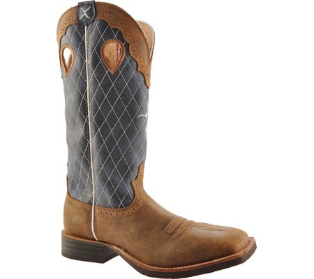 Twisted X Western Boots Mens Leather Ruff Stock Bomber Blue MRS0027 Bomber/Blue xz2wadbxSo