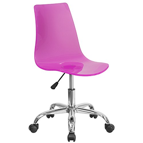 Flash Furniture Contemporary Transparent Acrylic Task Chair with Chrome Base, (Contemporary Task Chair)
